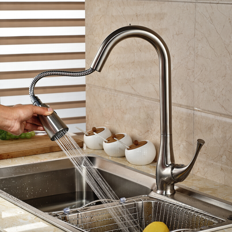 Brand New Pull Out Dual Functions Sprayer Kitchen Sink