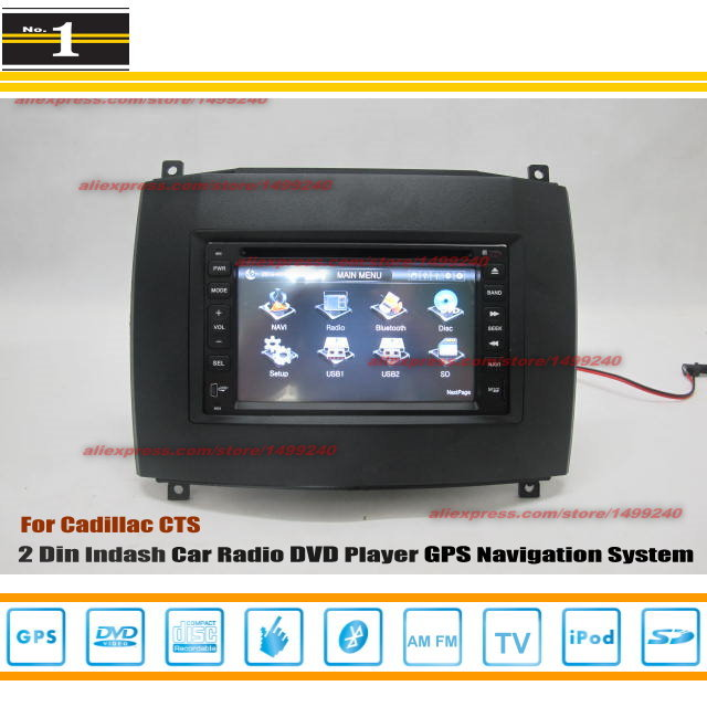 For Cadillac Cts Radio Cd Dvd Player Gps Navigation System Double Din Car Audio on Cadillac Cts Radio Wiring