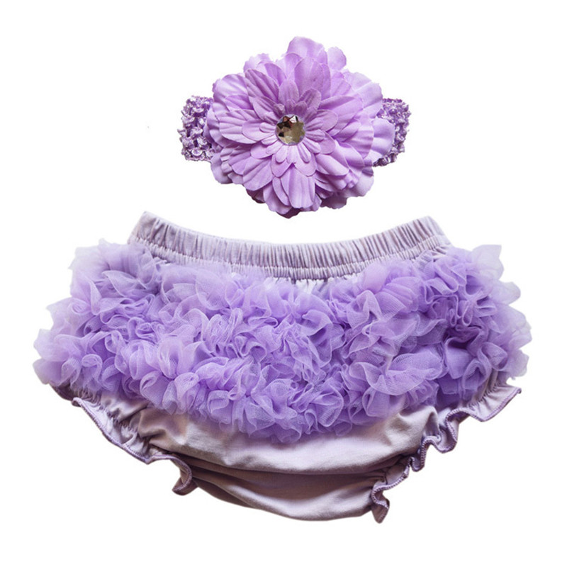 Baby Shorts Bloomers Baby Ruffle Panties Lace Headband Bebe Diaper Cover Infant Summer Cake Smash Toddler Newborn Party Clothing(China (Mainland))