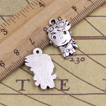 Buy 10pcs Charms boy girl 23*14mm Tibetan Silver Plated Pendants Antique Jewelry Making DIY Handmade Craft pendant for $2.37 in AliExpress store