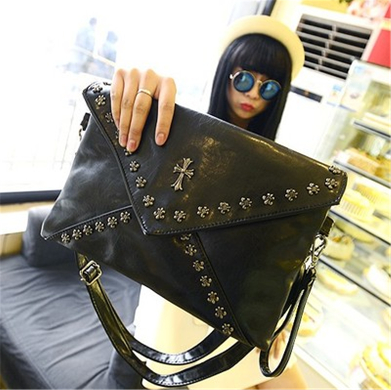 2015 New Fashion Bags Women Messenger Bag Black Elegant Handbags Bucket Bag Bolsas Feminina Vintage Bolsa De Couro Shoulder Bag
