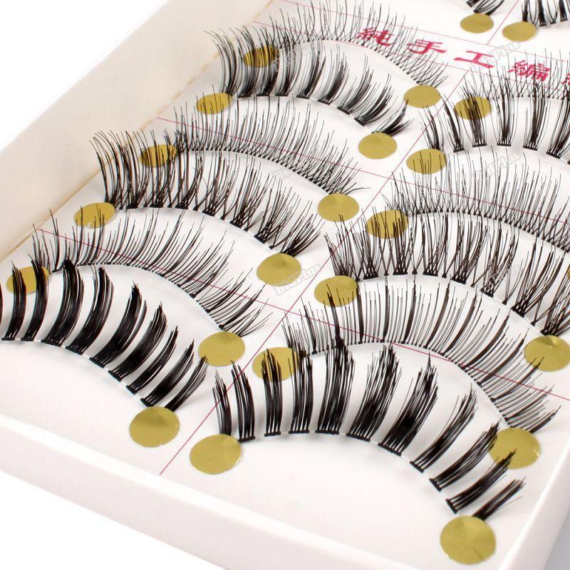 bidplus store specials 10 Paires Natural Long Fait Main Maquillage Long Faux Cils Yeux Beaut Makeup 08 [helpful](China (Mainland))