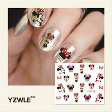 YZWLE 1 Piece Hot Sale Water Transfer Nails Art Sticker Manicure Decor Tool Cover Nail Wrap Decal (YZW122)(China (Mainland))