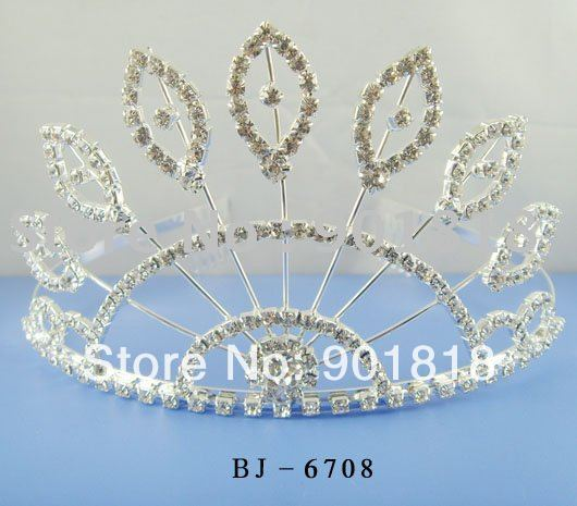 Free shipping wedding crown about 8cm tall F2098(China (Mainland))