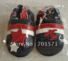Guaranteed 100% soft soled Genuine Leather baby shoes 1004(China (Mainland))