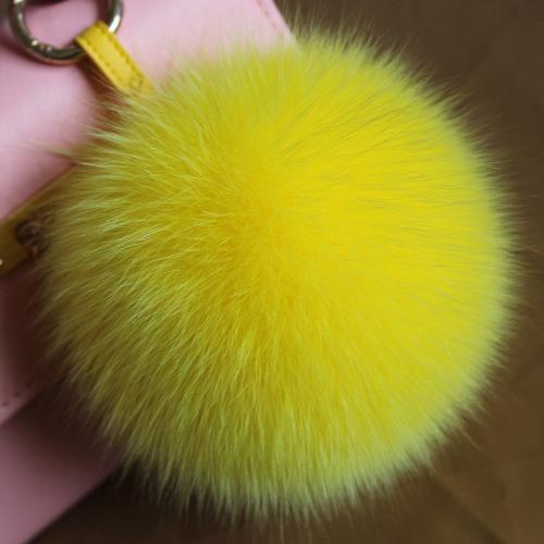 real FOX FUR ball keychain 15cm charm pompom chains for bag handbag big size natural fox fur car cell phone keyrings fashion key(China (Mainland))