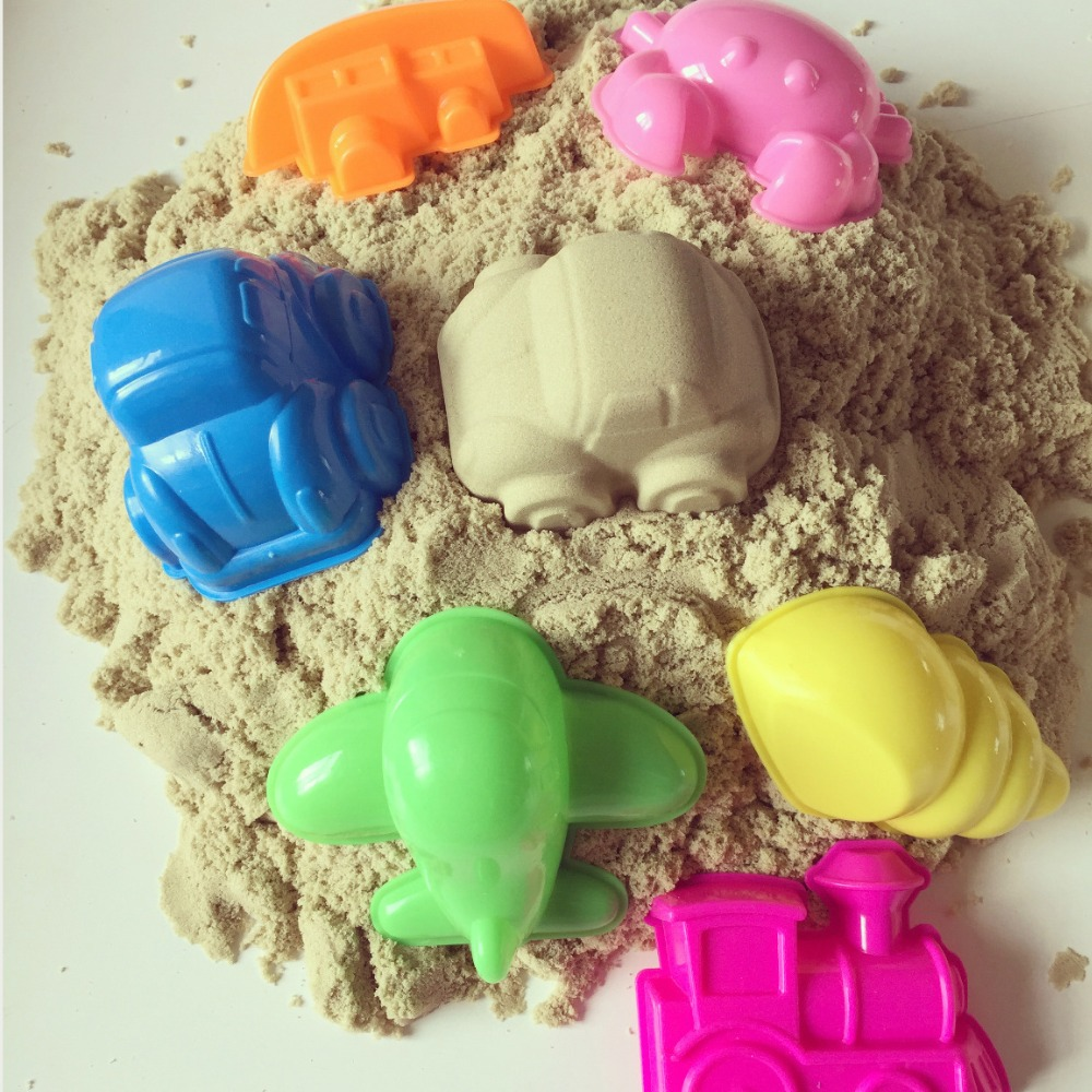 6pcs Ocean Sky Land Play Dough Plasticine Mold Magic beach Sand Mold for Children Indoor Miracle Play Toy Mould Cartoon DIY Sets(China (Mainland))