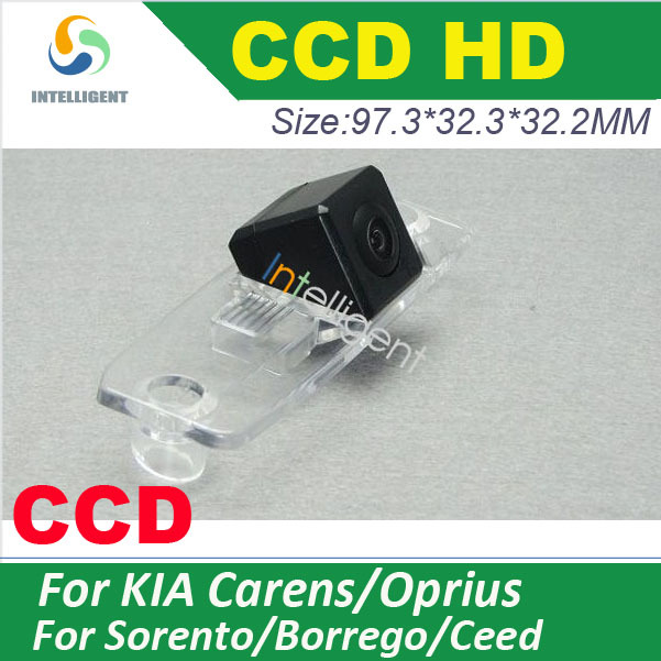 Real CCD HD Car rear view camera For KIA Sorento Kia ceed Carens Oprius Borrego color Night vision waterproof pixel 728*582(China (Mainland))