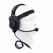 Z Tactical Bowman Elite II Headset Airsoft Mic Radio Boom 3 Green Z Tactical HD-03 Best C2130G Fshow(China (Mainland))
