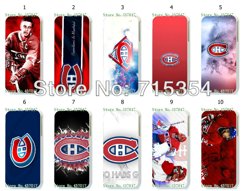hot!Unique Newest Designs!!wholesale 10PCS The Montreal canadians hard white case back cover for iPhone 5 5th 5G(China (Mainland))