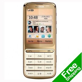 Unlocked Refurbished nokia c3-01 cell phone 3G GSM WIFI JAVA Camera Free Shipping(China (Mainland))