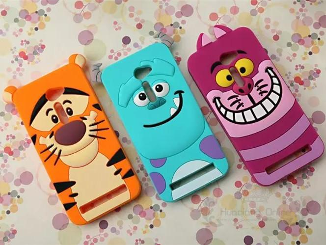 3D Cute Cartoon Tigger Sulley Cheshire Cat Soft Rubber Silicone Back Cover Case Asus Zenfone 2 ZE500CL 5 inch Mobile Phone Cases  -  Huaqiang On Line store