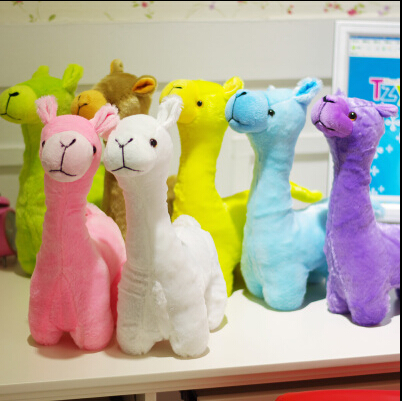 1pcs 33cm Hot cartoon Lovely colorful Alpaca Sheep Plush Stuffed Room Decoration Fashion creative fill plush toys Child gifts(China (Mainland))