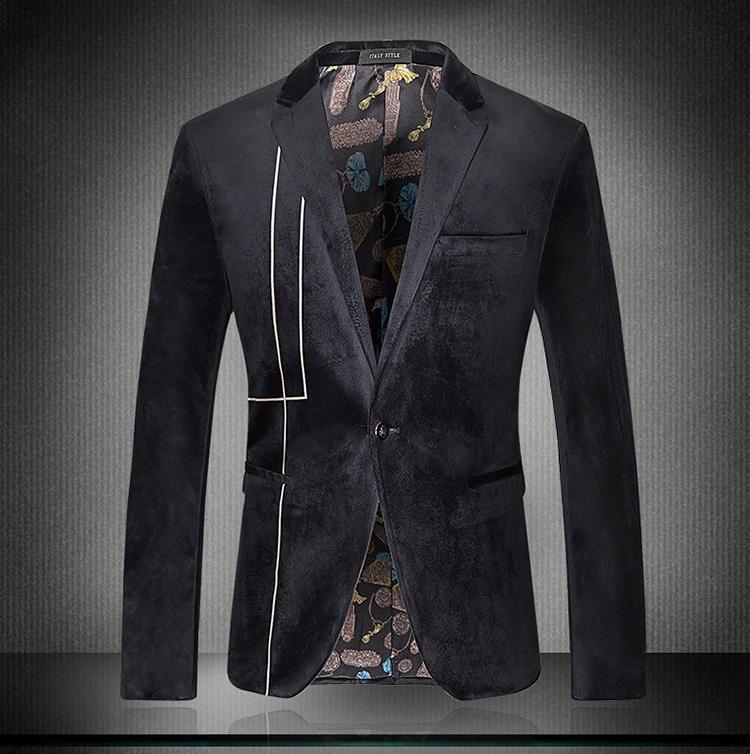 New Mens Gold Velvet Business Casual Slim Fit Designer Blazers For Men Plus Size 3xl Famous ...