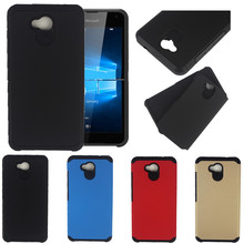 For Microsoft Nokia Lumia 550 640 650 950 XL Case Slim Hybrid Rubber Shockproof Armor Combo Hard Protective Cases Cover(China (Mainland))