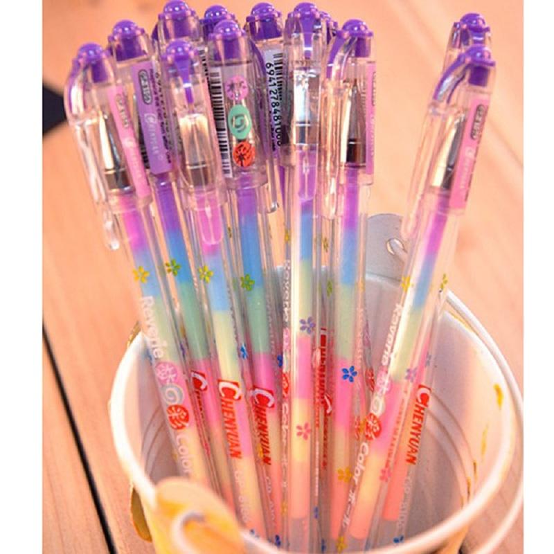 Гаджет  Creative 1pc Cute Highlighter Marker Stationary 6 Color Pen Students Ballpen Children Drop Shipping None Офисные и Школьные принадлежности