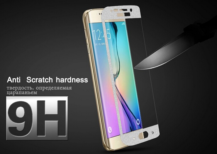Full Cover Tempered Glass Screen Protector Samsung Galaxy S6 edge G925 Siliver Retail Package Sale - GSD Industrail Co.,Ltd store
