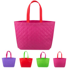 Promotion Sale!!! Non Woven Shopping Bag Eco-friendly Resuable Handbag Advertising Gift Bag Candy Color Grocery Bags(China (Mainland))