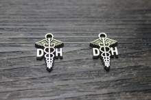 Buy 30pcs--19*13mm Dental Hygienist Charms, Antique Tibetan silver DH Medical Caduceus Charm Pendant for $2.69 in AliExpress store