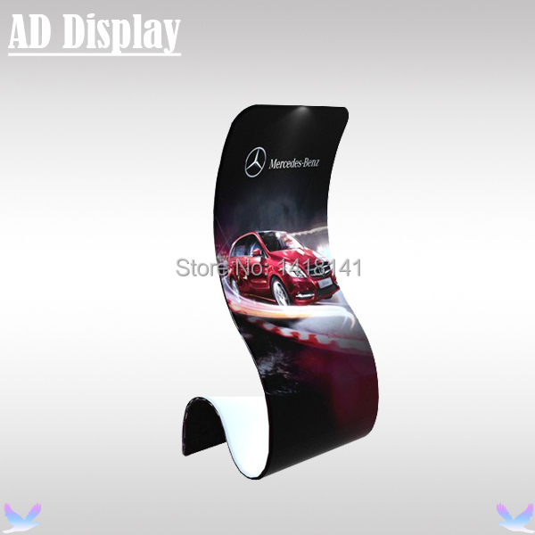 New Arrival Trade Show Tension Fabric Snake Banner Stand With Single Side Full Color Printing,High Advertising Display Equipment(China (Mainland))