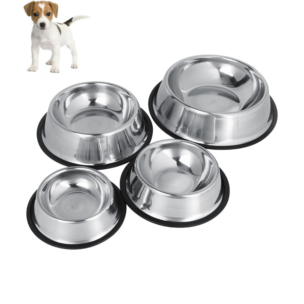 TOPINCN Dog Bowl 4 Sizes Stainless Steel Lovely Automatic Pet Feeder Water Bowl For Cat Puppy Dog Food Water Drink(China (Mainland))