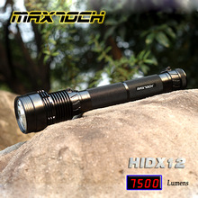 Huge Sale! MAXTOCH HIDX12 7500LM Brightest Aluminum REAL 85W/65W/45W HID Flashlight/Torch kit. Free shipping!(China (Mainland))