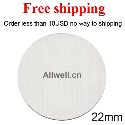 Free shipping Stainless Steel 22mm 316L Custom Blank plates for 30mm Floating glass Lockets(China (Mainland))