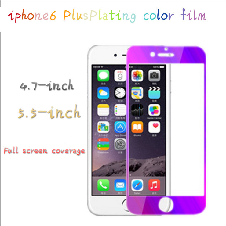 6 color Choose iPhone4s5s6plus glass films plus color steel membrane mirror film coated steel S6 sung phone(China (Mainland))