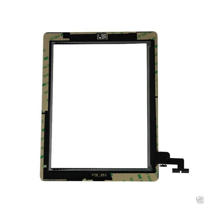 Touch Screen touch display digitizer Replacement with Home Button +Camera Holdder For iPad 2 2th black or white 10pcs/lot(China (Mainland))