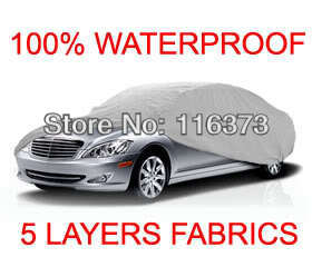 5 Layer Car Cover Outdoor Water Proof Indoor for FORD MUSTANG SHELBY FASTBACK 1966 1967 1968(China (Mainland))