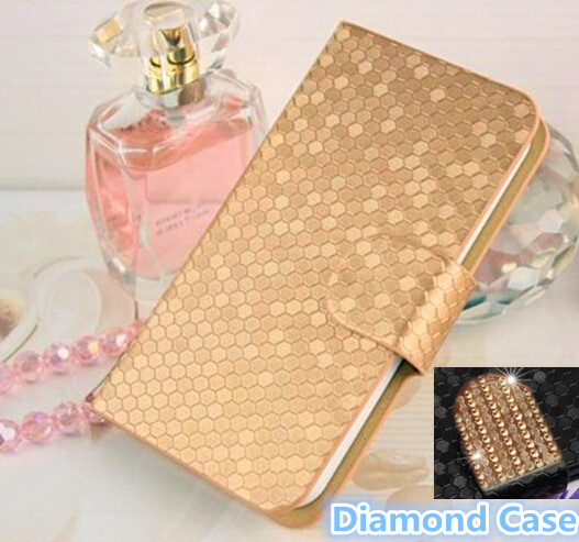Free Shipping Flip PU Leather Mobile Phone Case For Blackberry Z10 Factory Sale High Quality Phone Cover For Z10 With Diamond(China (Mainland))