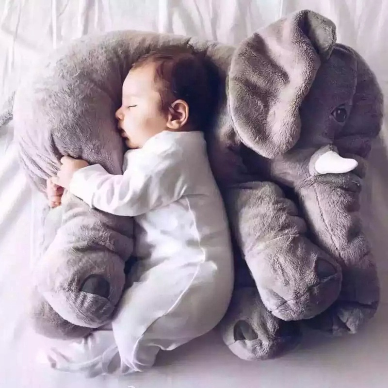 Cartoon 65cm Large Plush Elephant Toy Kids Sleeping Back Cushion Pillow Elephant Doll Baby Doll Birthday Gift Children