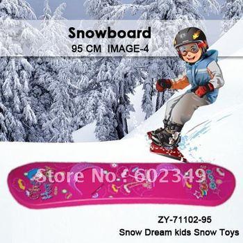 "Hot Sale Free Shipping Kids Winter Popular ""ROAD""Ski Snowboard (WHITE&BLUE /95cm/10PCS/CTN/Simple footstrap)"