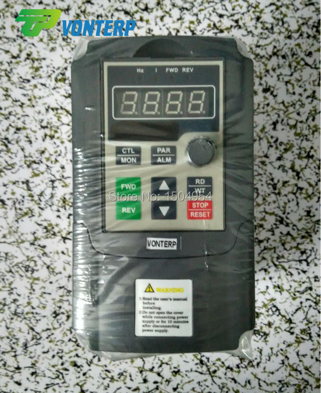 Фотография 220v 4A 1phase  input and 220v 3 phase output AC motor speed controller /VFD frequency inverter