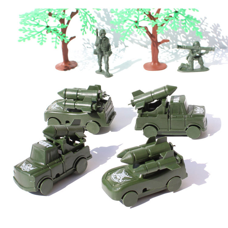 The latest round of missile armored vehicles fake army army vehicle weapon simulation plastic model the best gift for children(China (Mainland))