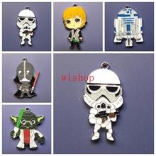 New 50 Pcs  Star Wars   Charm Pendants DIY Jewelry Making  Free Shipping  R22(China (Mainland))