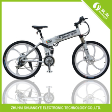 Beautiful!!! integrated wheel folding electric mountain bicycle(China (Mainland))