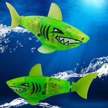 New Baby toys Baby kids Activated Battery Powered Robot Shark Toy Green Brand gifts free shipping (China (Mainland))