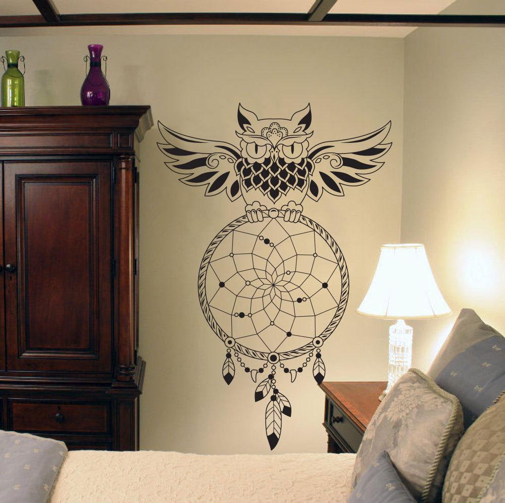 Dream Catcher Wall Decal Owl Dreamcatcher Living Room