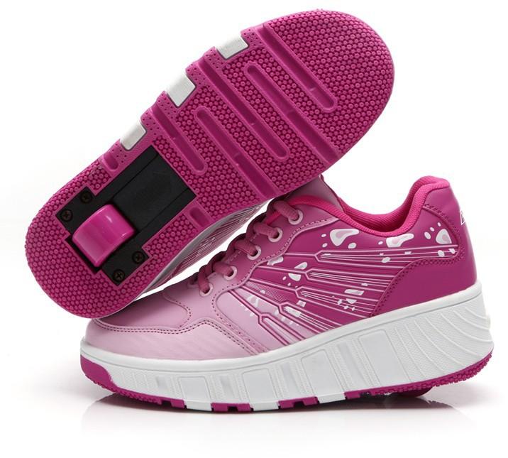 Высокое качество Heelys мода дети ролик обувь свободного покроя вид спорта  девочек и мальчиков скейт дети кроссовки с колесным 9f7d818eab2