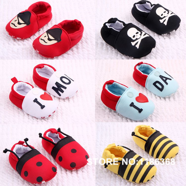2016 First Walkers Baby fringed toddler shoes soft bottom baby cartoon modelling shoes baby red pirates love mom dad shoes(China (Mainland))