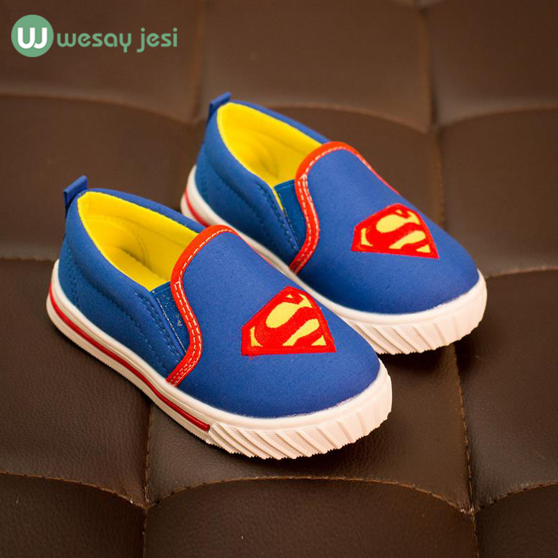 Boys shoes brand Superman Spiderman Batman Shoes 2016 New canvas cheap kid Girls Christmas toddler sport Sneakers - stars twinkle store