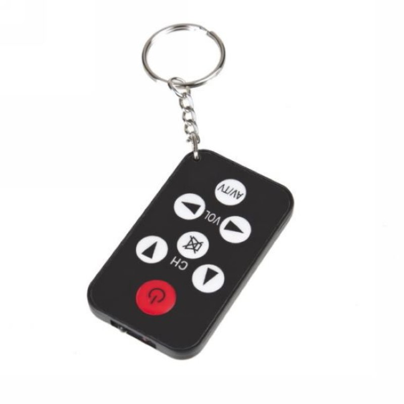 Portable Universal Infrared IR Mini TV Set Wireless Remote Smart Control Controller Keychain Key Ring 7 Keys Button Black
