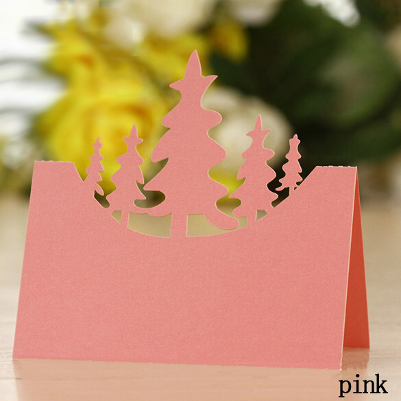 tree invitation place paper card table Decoration Wedding Party Event Decors festival favor(China (Mainland))