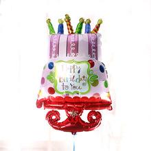 1 шт. 54*95 см Дети день рождения украшения воздушный шар фольги с днем рождения торт воздушный шар ребенок день рождения игрушки гелия воздушные шары