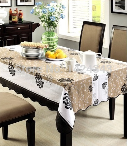 A07 High Quality PVC Table Cloth Plastic Waterproof Oil Dining Tablecloth Wholesale factory sales Free Shipping(China (Mainland))