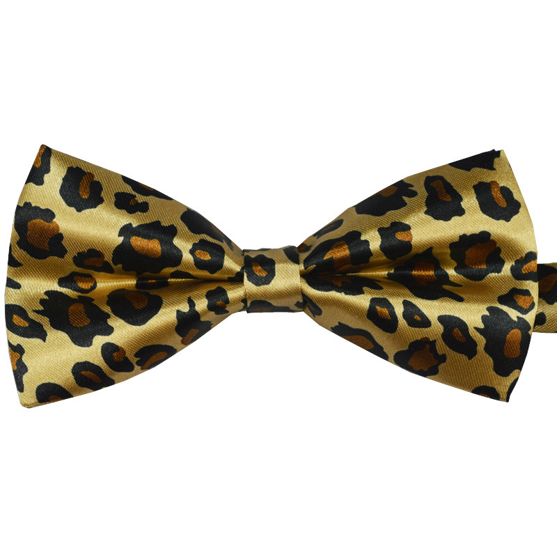 Free Shipping Fashion Brand Leopard Floral Bow Tie Men Cartoon Bow Tie Polyester Printing Cravat Tie Luxury Tie(China (Mainland))