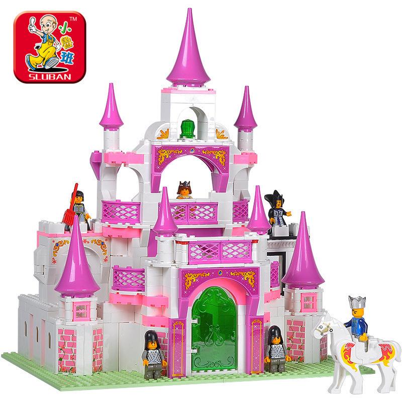 Sluban Pink dream Castle Building Blocks set Bricks Construction Enlighten Toys For Girls Gift Legoegoly<br><br>Aliexpress