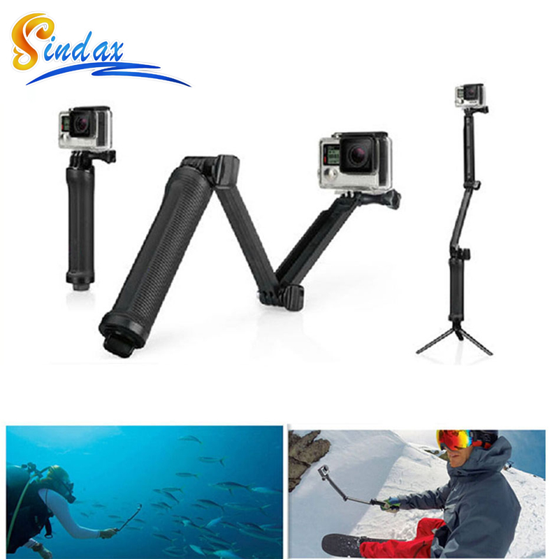 GoPro Accessories Kit Selfie Stick Monopod 3-Way Multi-function Folding Arm