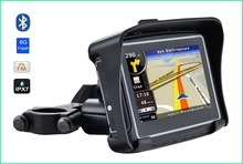 Waterproof Motorcycle GPS - 4.3 Inch Win CE 6.0 Car GPS Navigator - Built-in 8GB Flash with Map-FM Transmitter/Bluetooth(China (Mainland))
